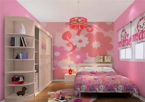 温馨女孩儿童房