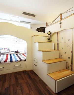 欧美卧室上下床装修效果图