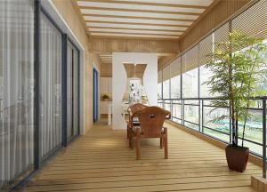 中式别墅阳台外观效果图