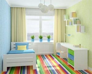 小清新儿童房装修效果图男