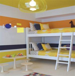 现代风格儿童房双层床效果