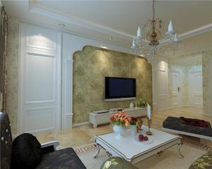 新古典美式电视柜图片