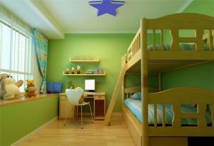 原木色儿童家具上下床