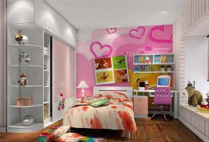 女孩儿童房家具组合