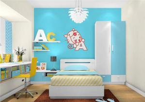 蓝色女孩儿童房