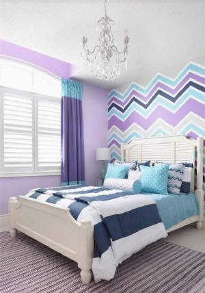 紫色调儿童房定制