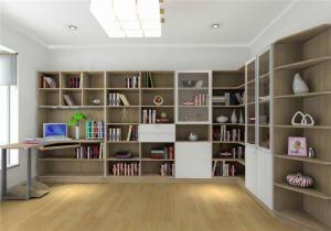 书房简易书柜效果图