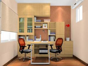 简易书柜组合墙