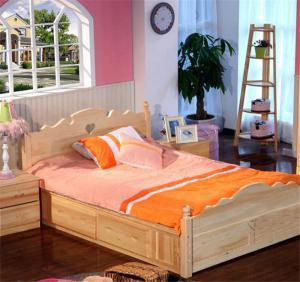 实木床儿童房布置