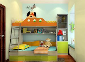 高清儿童家具上下床素材