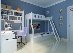 儿童房双层床效果图组合