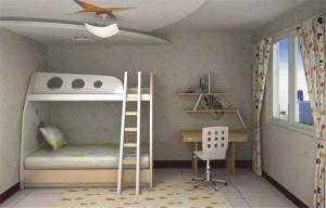 家居卧室上下床装修效果图