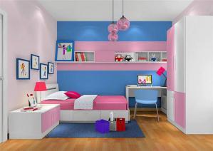 女孩儿童房家具设计
