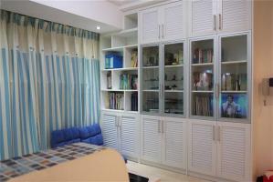 小户型客厅书柜装修图