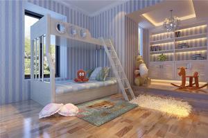白色卧室上下床装修效果图