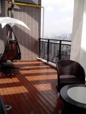阳台防腐木效果图欣赏