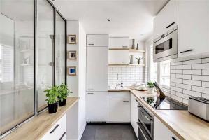 简约瓷砖厨柜