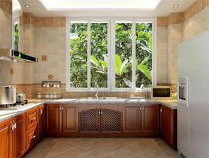 中式瓷砖厨柜