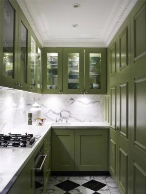 绿色厨房小橱柜