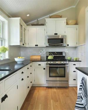 L型开放式厨房橱柜
