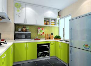 绿色整体厨房橱柜